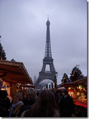 Christmas market near the Eiffel Tower