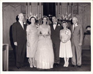Robert Barbour, Pauline Coleman, Peggy Barbour, William Straughen, Dorothy Leppert, Frank J. Straughn, 15 Jun 1958.