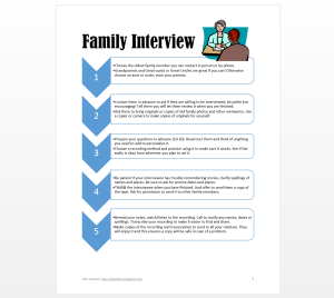 Family Interview Packet