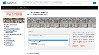 LCSH linked data