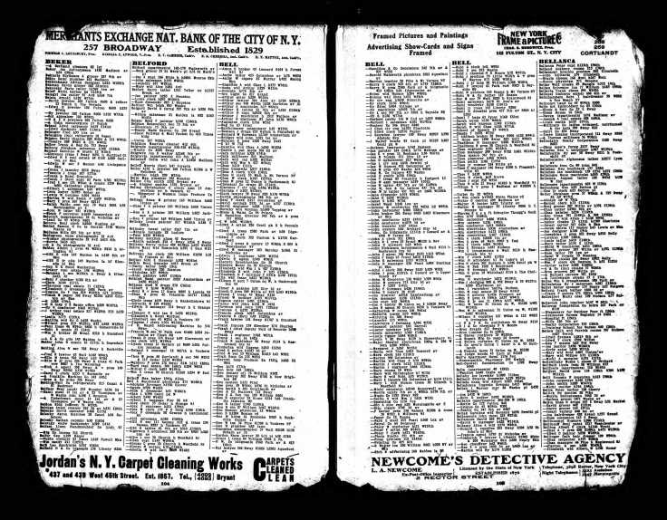 Bell 1911 Directory Walter H New York