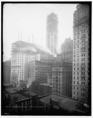 Construction of Singer Building