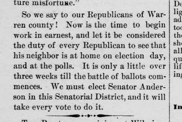 Anderson 1883 Newspaper LG Western Star 13 Sep 1883 campaign
