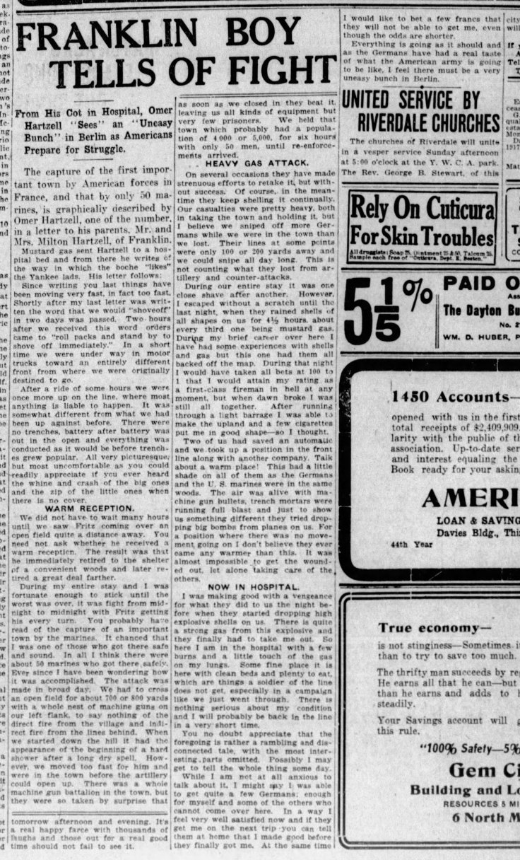 Hartzell 1918 Omer The_Dayton_Herald_Sat__Jul_20__1918_cropped