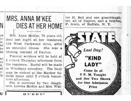 mckee 1935 obituary anna